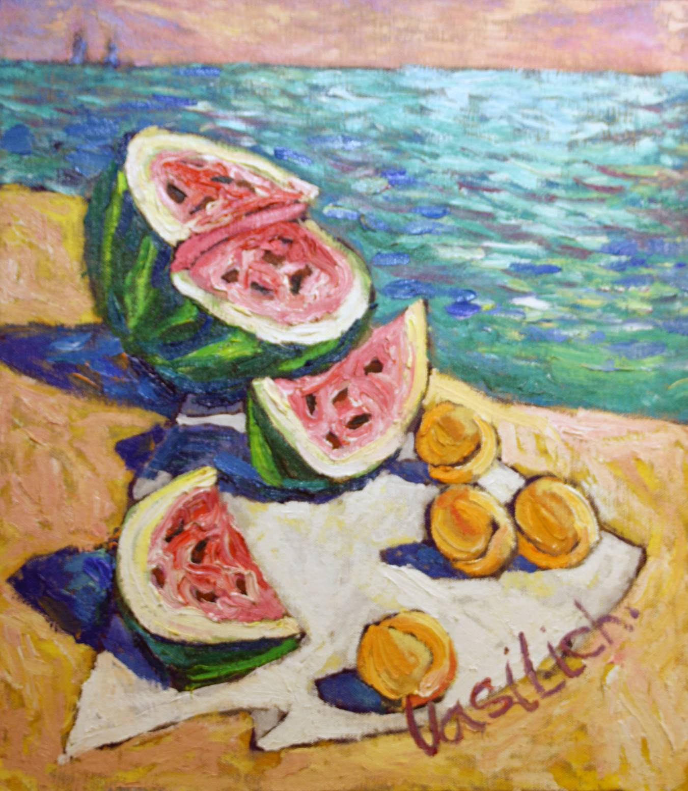 Beach still life. 64Х56 cm, canvas, oil