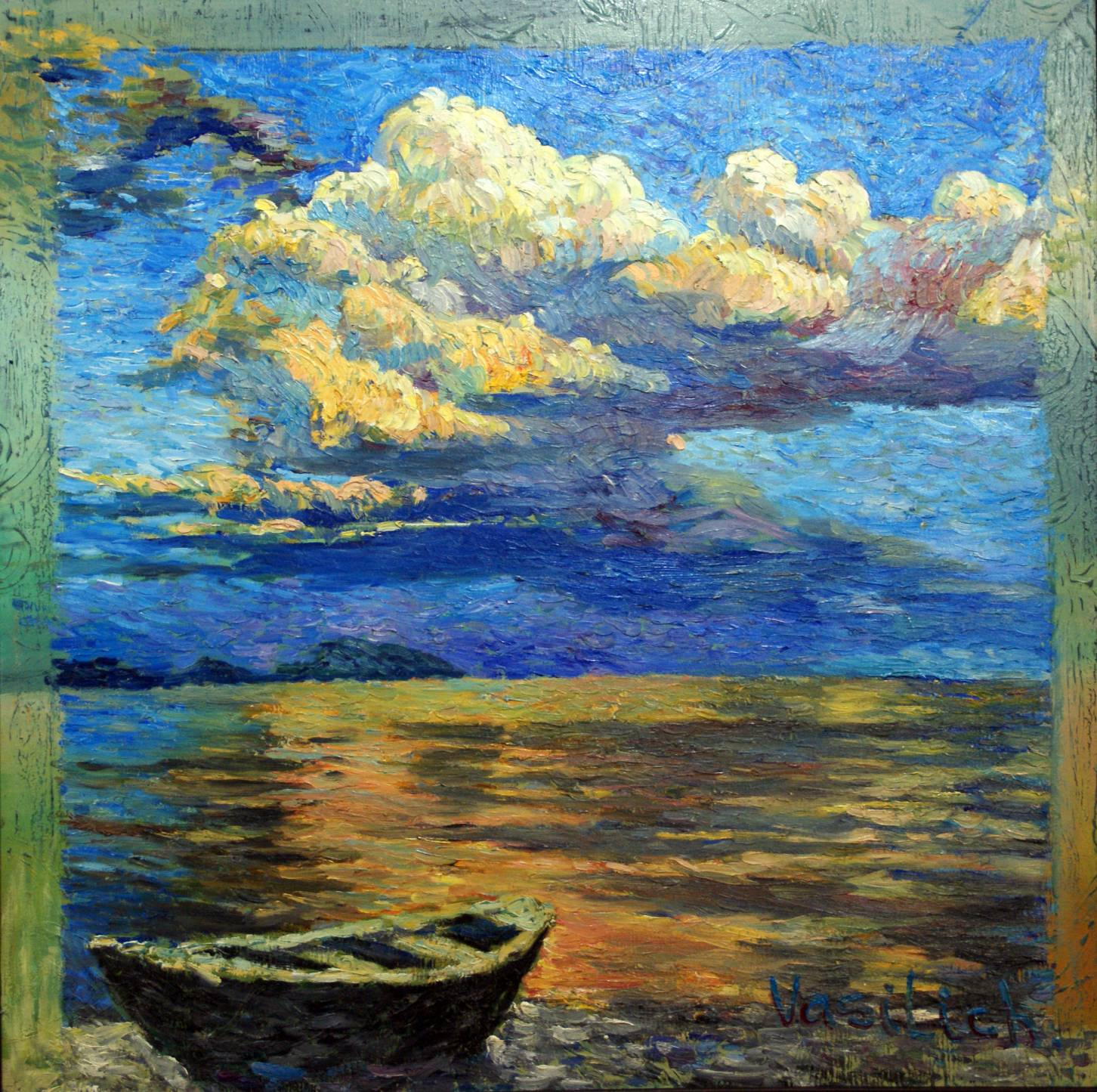 Before a storm. 90Х90 cm, canvas, oil