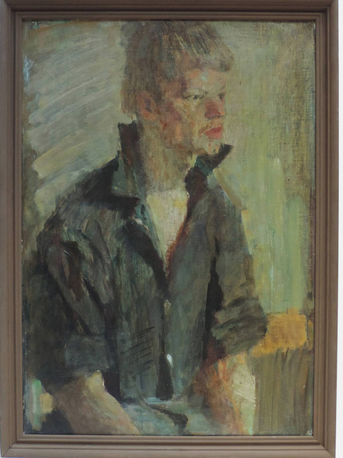 Juvenal Korovin (1914-1991). Honored Artist of Russia. Portrait of a young man. 49x70 cm, canvas on cardboard, oil. 1963