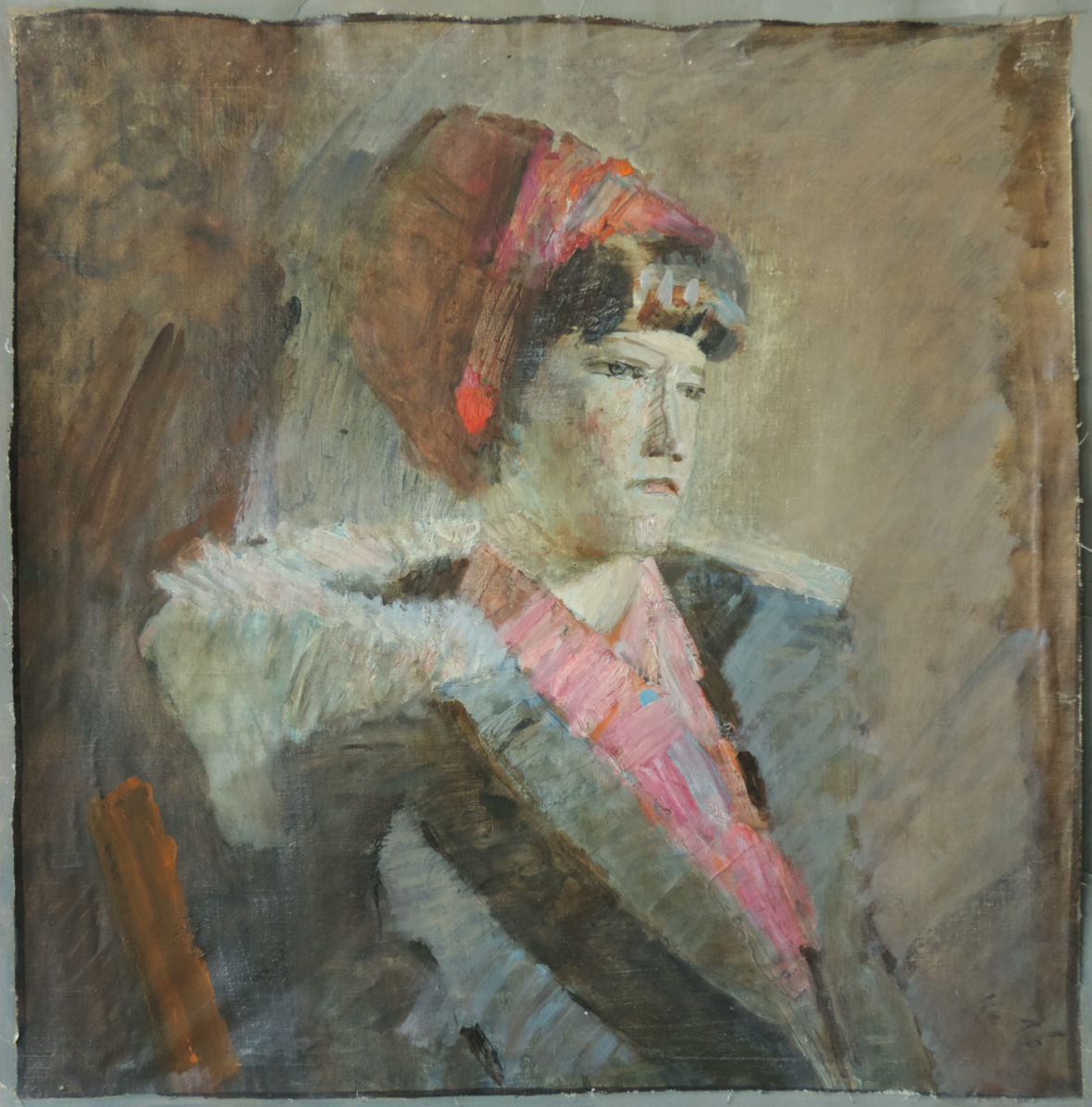 Juvenal Korovin (1914-1991). Honored Artist of Russia. Portrait. 53x52 cm. Canvas, oil. 1976