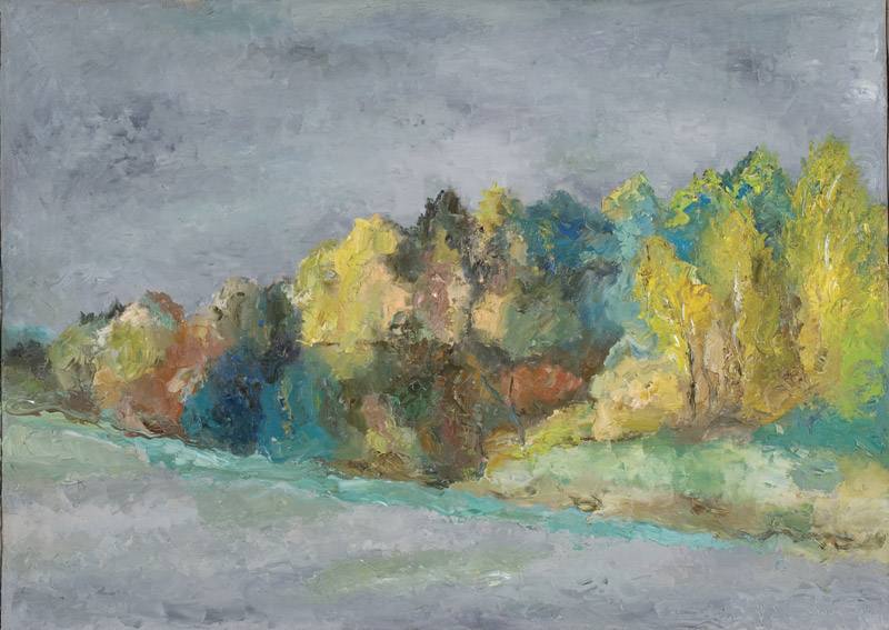 26. Road - island. 100х140 cm, canvas, oil, 2003